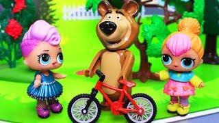 Куклы лол. Маша и Медведь мультик с игрушками. В гостях. Мультфильмы для детей новые серии