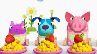Деревяшки - Лабиринт+ Завтрак - развивающие мультфильмы для самых маленьких  0-4