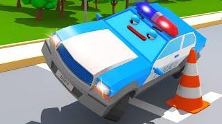 Мультики про Машинки - Полицейская Машина и ГОНКИ С ПРЕПЯТСТВИЯМИ - Мультфильмы для детей