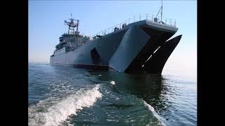 БДК-  Минск  проходит доковый ремонт на Кронштадтском морском заводе