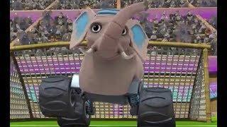 Мультфильмы для детей Животные играют в футбол Слон футболист смотреть онлайн