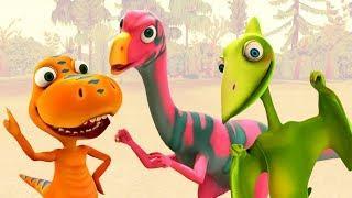 Мультфильм Поезд Динозавров для детей. Динозавры, которые любят рыть