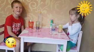 Lava Lamp. Ksenija and Robert playing. ЛАВА-ЛАМПА СВОИМИ РУКАМИ! ЛАЙФХАК КАК СДЕЛАТЬ