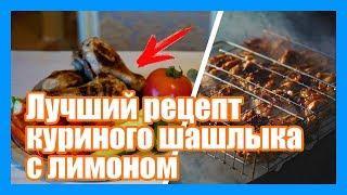 Лучший рецепт куриного шашлыка на мангале. Как сделать куриный шашлык с лимоном.