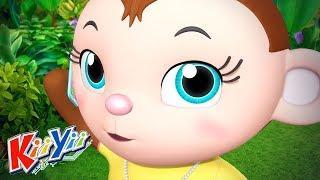 детские песни |  5 маленьких обезьян + Еще! | KiiYii | мультфильмы для детей