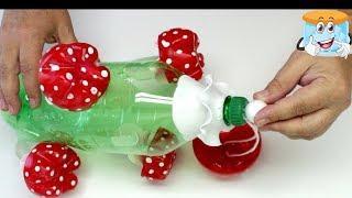 Как Сделать Мухоморы из Пластиковой Бутылки Поделки Самоделки