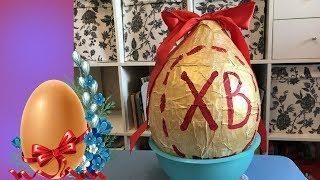 Как сделать большой киндер сюрприз Пиньята на Пасху Большое пасхальное яйцо