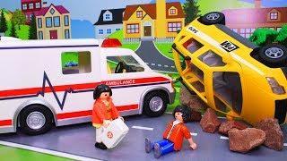 Машинки игрушки – Серия №1. Скорая помощь для детей! Развивающие мультфильмы