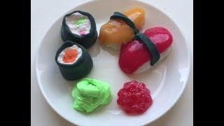 Как сделать слайм в виде еды? // слайм суши