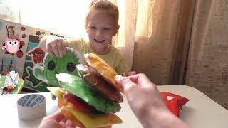 КАК СДЕЛАТЬ 3D СКВИШИ ИЗ БУМАГИ гамбургер !  DIY  SQUISHY СВОИМИ РУКАМИ