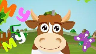 Песни для детей. Развивающие мультфильмы для детей - Ферма - Коровка МуМу