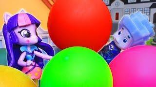Видео для детей! Полёт на шаре. Май литл пони и Фиксики – Про игрушки!