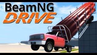 Мультфильмы про Машинки Аварии Погони для Детей Новые Мультики игра BeamNG Drive (35)