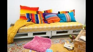Как сделать диван из поддонов на террасу и еще  79 примеров