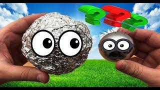 Металлический шар из фольги / Как сделать железный шар из фольги своими руками в домашних условиях