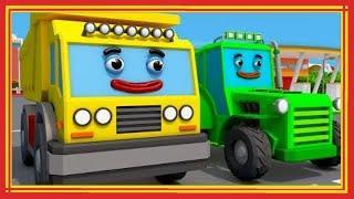 Мультик ТРАКТОР и Строительная Технику Играют в ИГРЫ Мультфильмы для детей