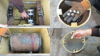Как сделать шаровую мельницу для камня?! ПРОСТО