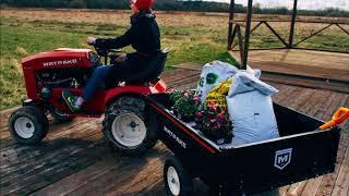 Первый отечественный садовый трактор для работы круглый год Митракс Т10»