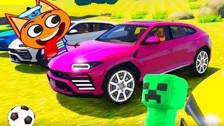 Монстр Валера и Кот Барбоса ! #Машинки мультики для мальчиков все серии - Мультфильмы для детей