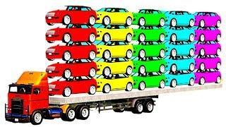 Мультики про Цветные Машинки Мультфильмы для детей