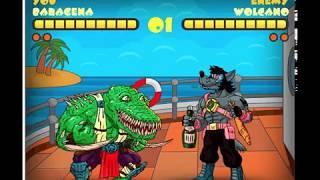 Мешап Mortal Kombat 11 и мультфильмы. Тестовые анимации персонажа Baragena