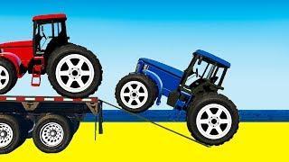 Мультики про машинки Цветные Машинки Едет Синий Трактор песенка для малышей Мультфильмы для детей