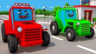 Мультики про Машинки Трактор ИГРАЕТ НА ФЕРМЕ Мультфильмы для детей