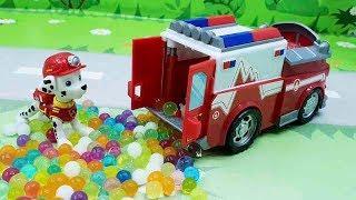Мультики про машинки с игрушками Щенячий Патруль - Неожиданное День Рожения! игрушечные мультфильмы
