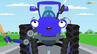 Мультфильмы для Детей про Машинки СИНИЙ ТРАКТОР  и Воздушная Кукуруза
