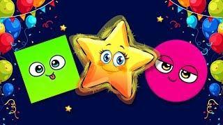 Учим цвета и формы! Лопаем шарики! Развивающие мультики для детей - мультфильмы