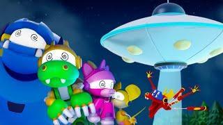 Животные Механика | EP 4: Вторжение НЛО | Мультфильмы для детей | WildBrain