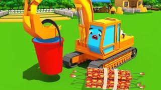 Мультики про машинки - Экскаватор ПОЛ и Трактор ТОМ - СМЕШНАЯ ГОНКА - Мультфильмы для детей