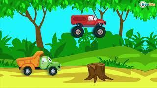 смотреть мультики про машинки Грузовик и Монстр Трак Мультфильмы для Детей