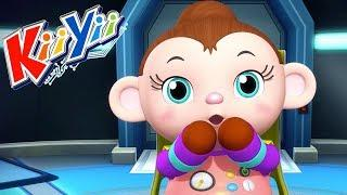 детские песни | 5 маленьких обезьянок + Еще! | KiiYii | мультфильмы для детей