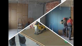 Как сделать шумоизоляцию стены в квартире за 3 часа?  Тонкий эффективный вариант.