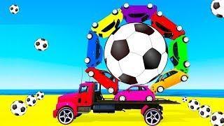 ВЕСЕЛАЯ гонка !! Цветные Машинки и Полицейские тачки 4. Мультфильмы для детей. Мультики про машинки