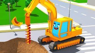 Экскаватор Играет в Городе Мультики про Машинки ВСЕ СЕРИИ Мультфильмы для детей