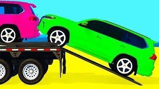 Мультики про машинки Автовоз и Цветные Машинки Учим Цвета и Цифры Мультфильмы для детей