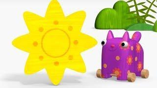 Деревяшки - сборник серий 4 - развивающие мультфильмы для самых маленьких  0-4