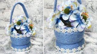 Великолепная корзинка из баночки от крема. Как сделать корзинку