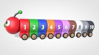 Развивающие мультфильмы - Английский язык для малышей- Цветная гусеница- Паровозик Олли
