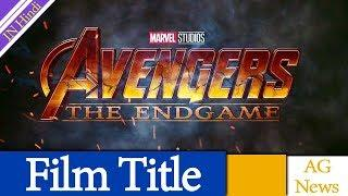 Avengers 4 Cinematographer May Have Revealed Film Title AG Media News