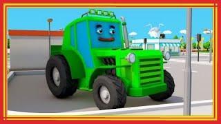 Синий Трактор УГНАЛ ПРИЦЕП! 3Д мультик про машинки - Мультфильмы для детей
