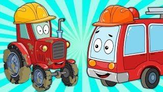 Мультики про машинки - Пожарная машина и Трактор - Развивающие Мультфильмы для малышей