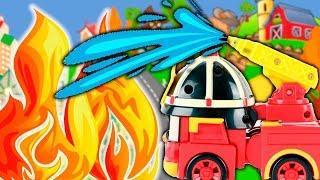 Робокар Поли мультики про машинки – Ложный вызов. Мультфильмы для детей с игрушками Робокар Поли