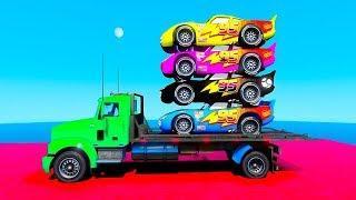 Мультфильмы про разноцветные байки и Человечек Паучок для ребят. Супергерои Изучаем Тона для Детей