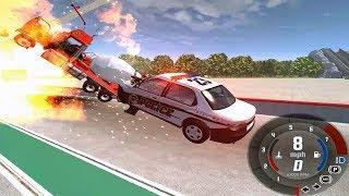 Мультфильмы про Машинки|Взрыв Аварии Погони для Детей|Новые Мультики|Игра BeamNG.drive   |#18