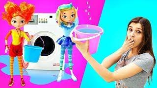 Аленка стирает вещи. Сказочный патруль - Мультфильм о девочках волшебницах. Шоу Ох уж эти куклы!