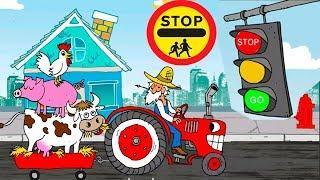 Мультик игра про машинки - Светофор! Развивающие мультфильмы для самых маленьких детей на русском