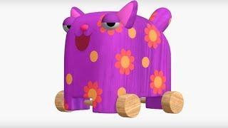 Деревяшки - сборник серий 9 - развивающие мультфильмы для самых маленьких  0-4